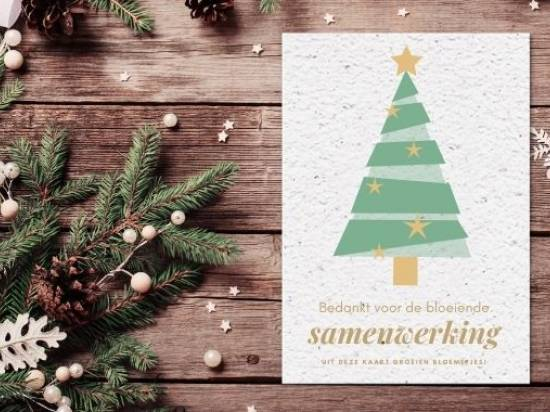 Sustainable Christmas card for customers and employees