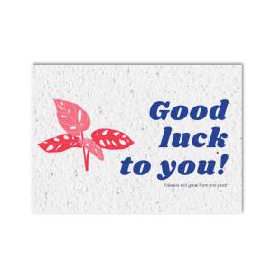 Growing card (4x) - Good luck to you
