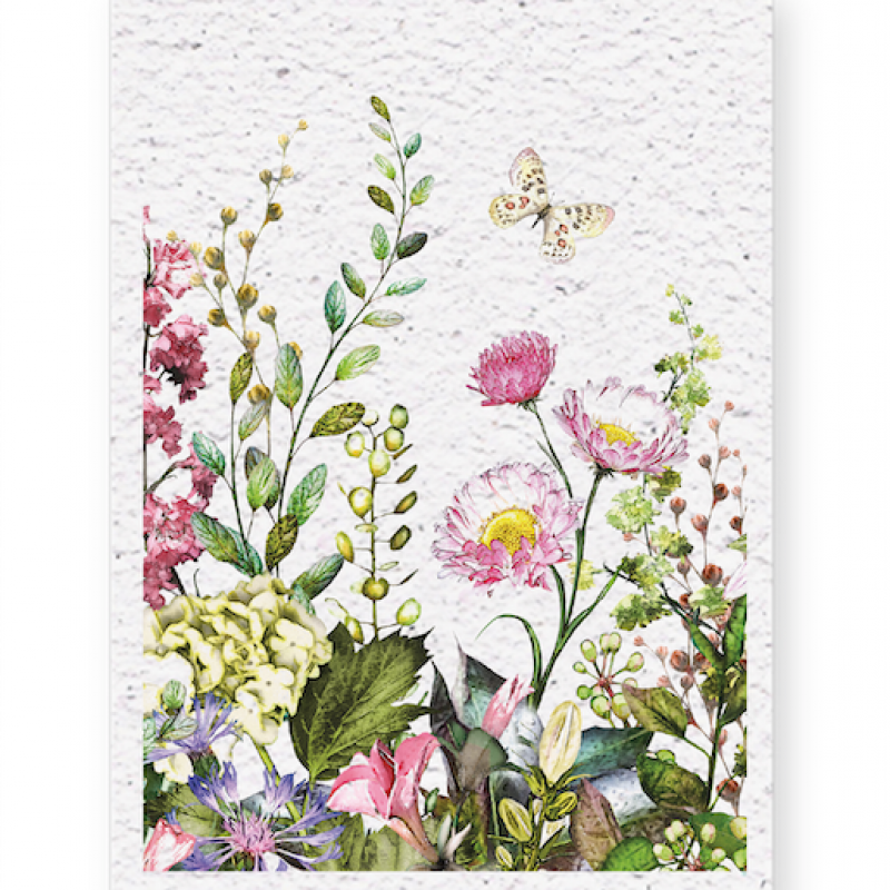 Blooming card (4x) - Flowers