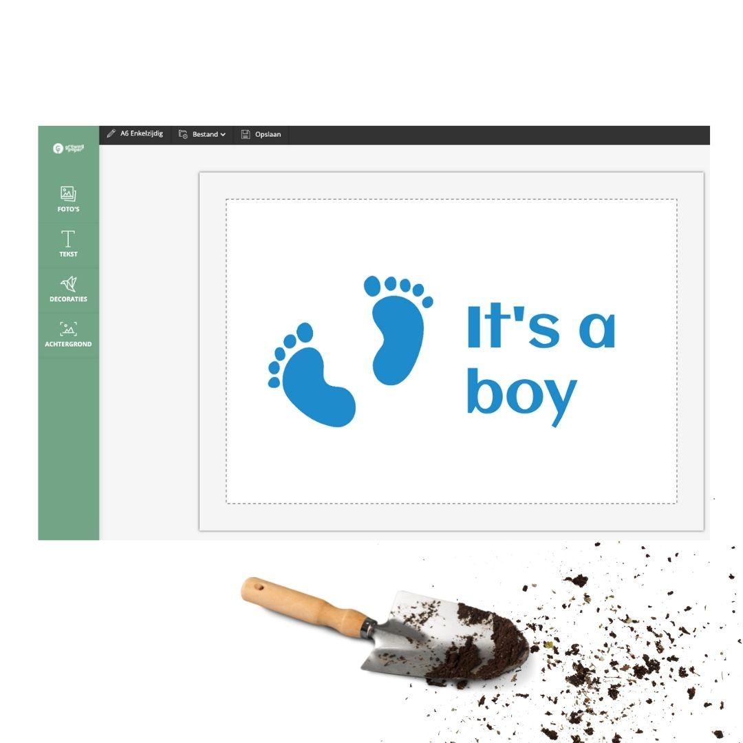 Geboortekaartje zelf ontwerpen