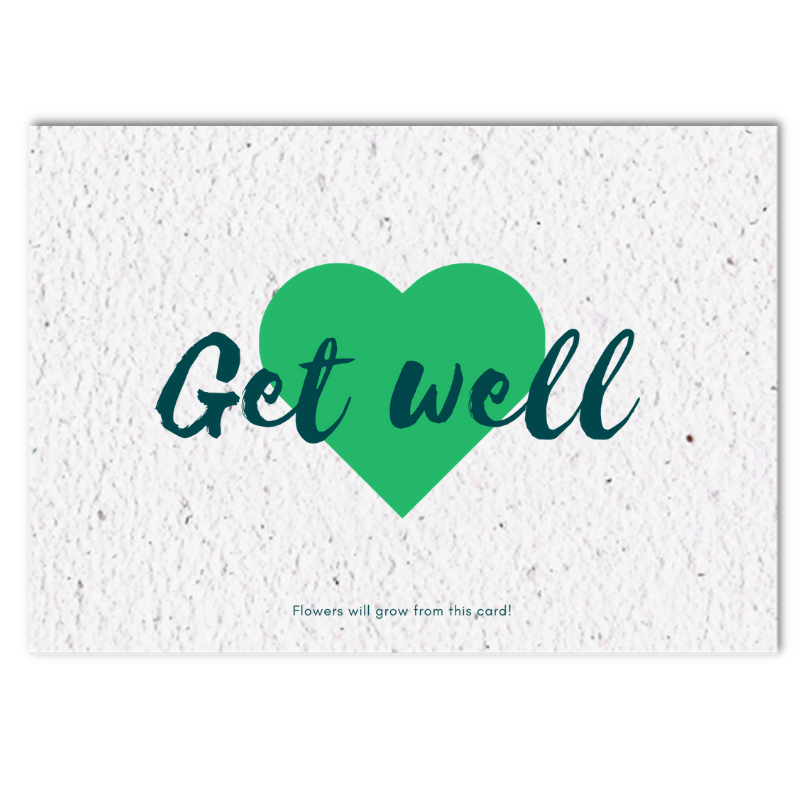 Growing card (4x) - Get well