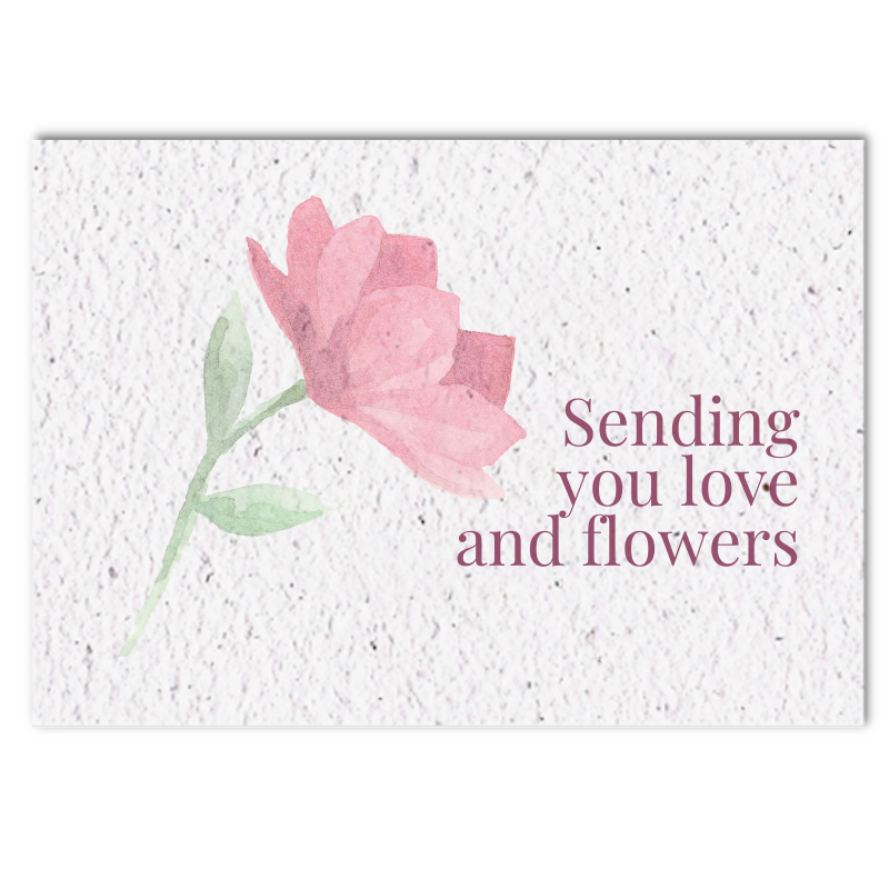Blooming paper sympathy card (4x)