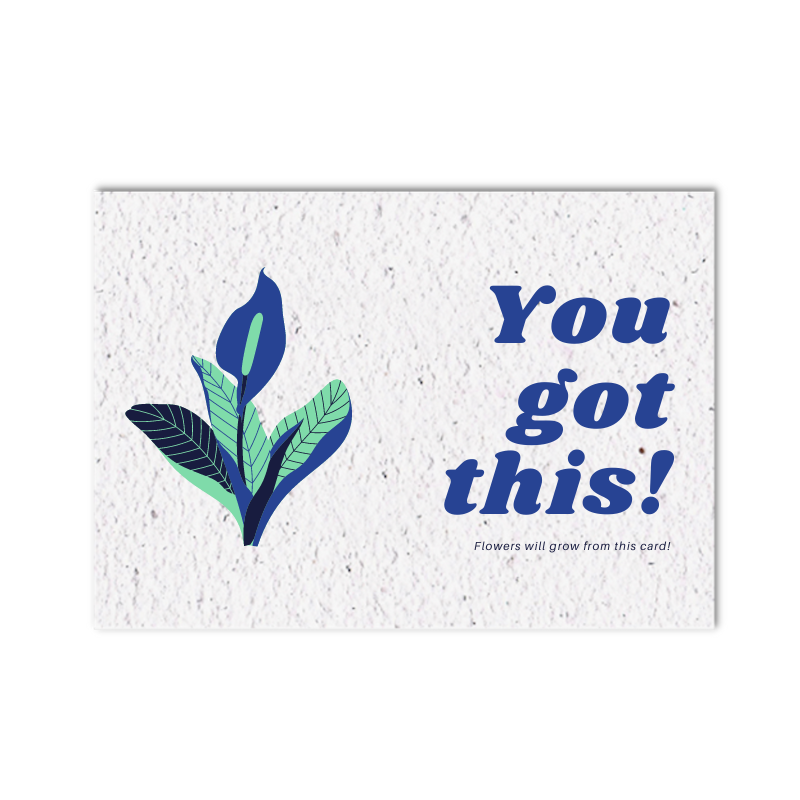 Growing card (4x) - You got this