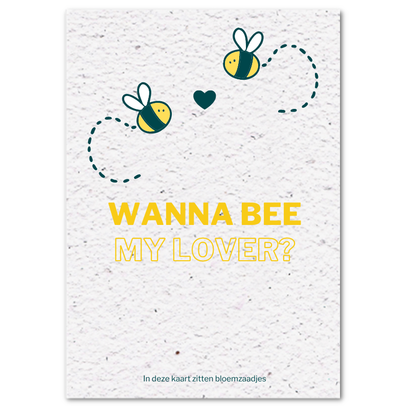 Valentijnskaart (4x) - Wanna bee my lover?