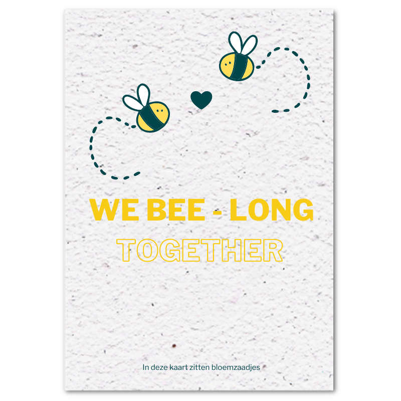 Valentijnskaart (4x) - We bee-long together