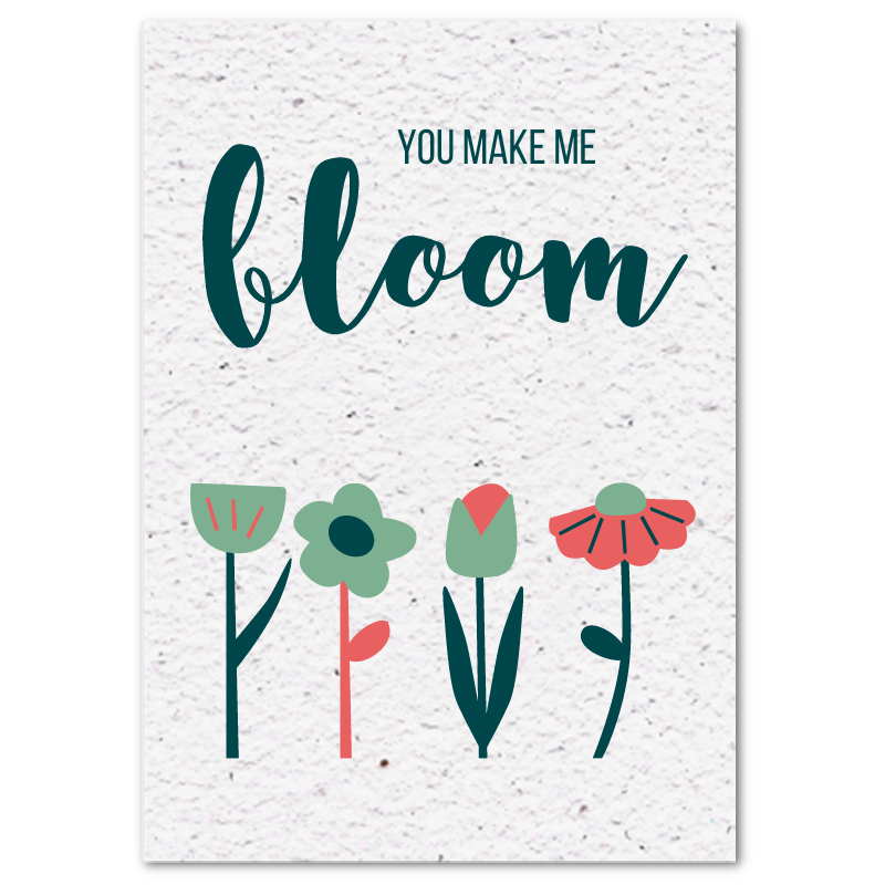 Valentijnskaart (4x) - You make me bloom